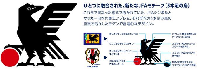 学校动态 平面设计之日本足协发布足球队全新队徽